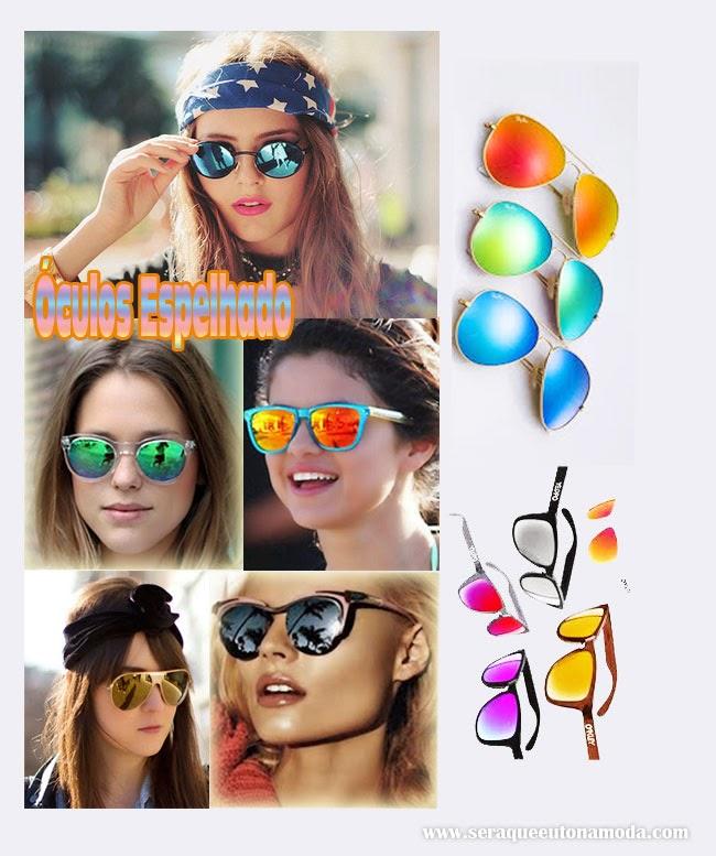 óculos espelhado, colorido