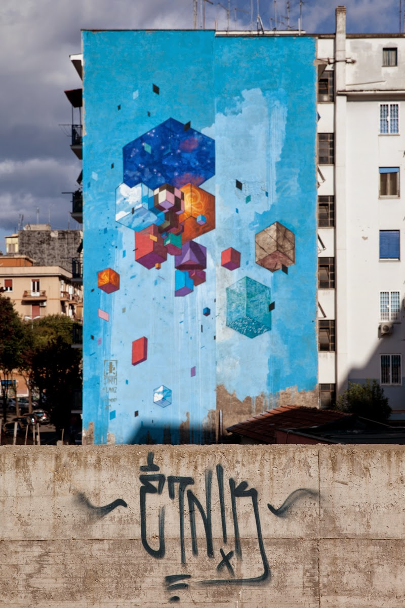 While we last heard from him in Trento, Etnik is now in Rome where he just finished working on a brand new mural.