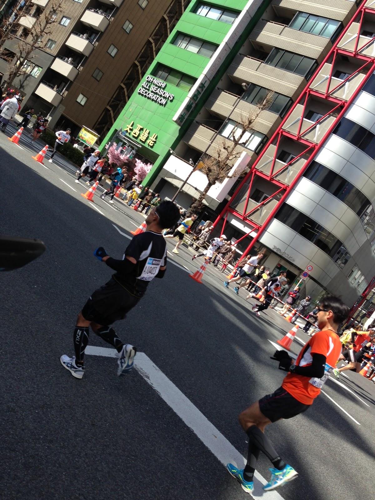 2013 Tokyo Marathon, Asakusabashi leg.