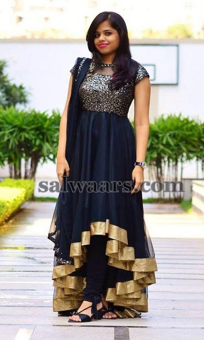 Black Salwar by Surekha