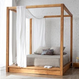 Mebel minimalist kayu solid jati dipan kayu jati jepara
