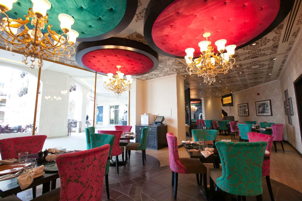 Peppermill's interiors have colourful designs that are traditionally Indian, yet with a contemporary touch