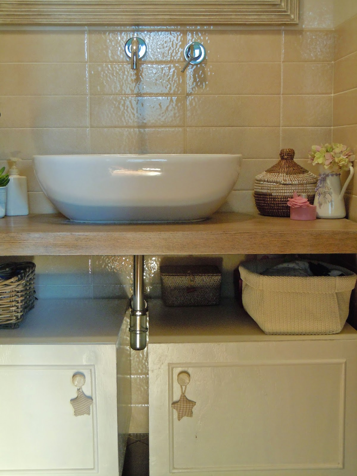 bagno shabby chic before and after