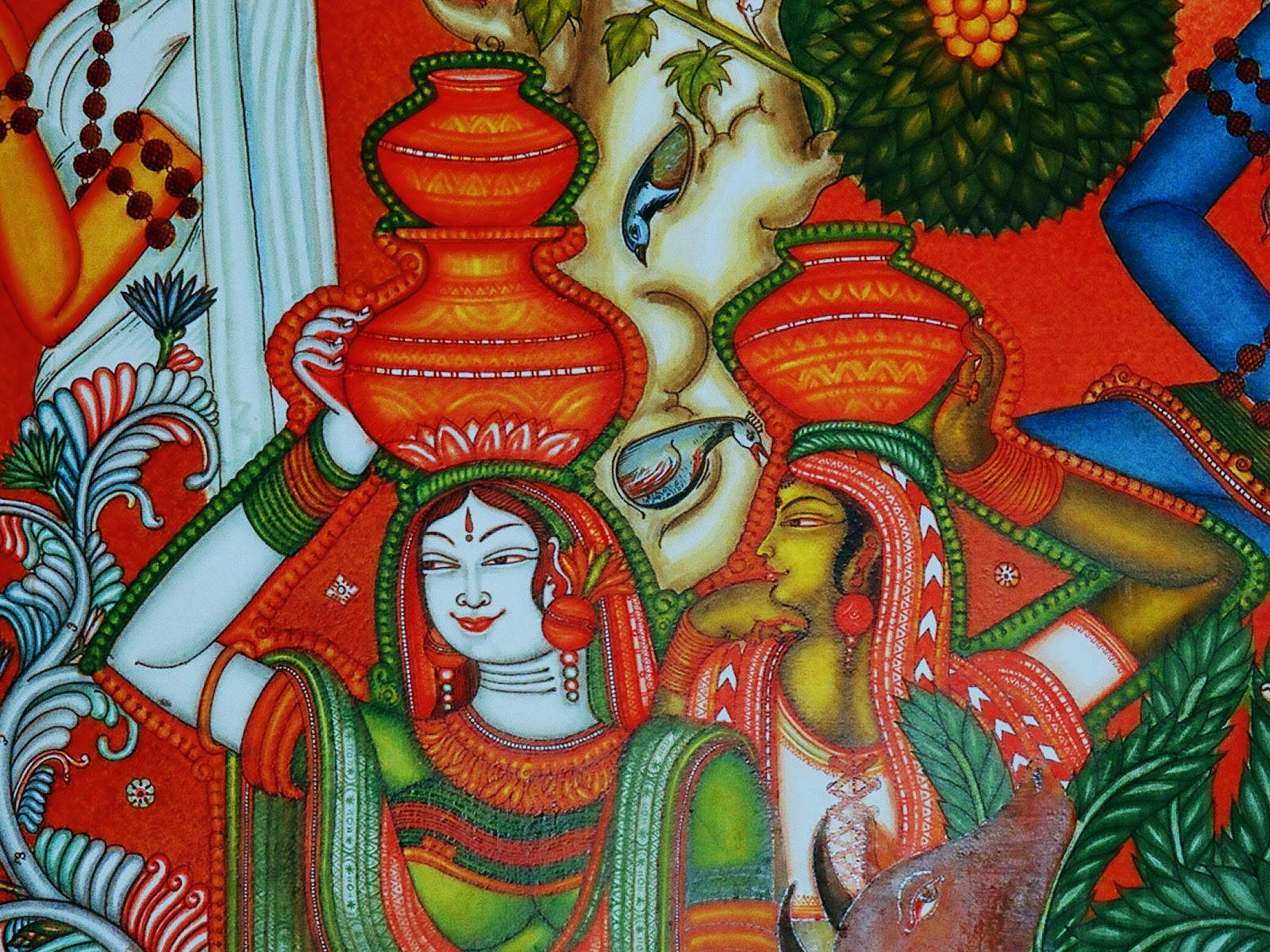 Portfolio kerala mural paintings for Art of mural painting
