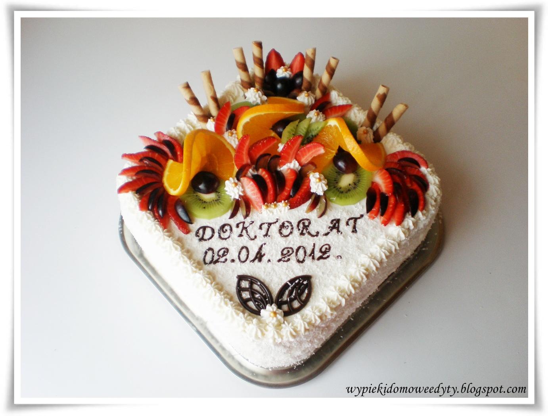 Moje Domowe Wypieki Tort Z Okazji Obrony Pracy Doktorskiej