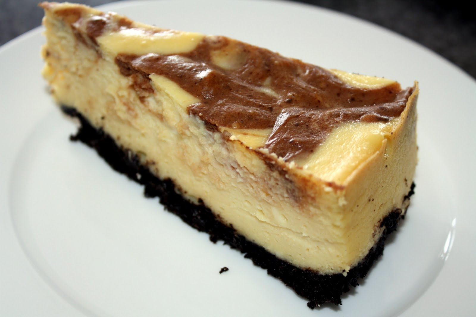 Chocolate Marble Cheesecake Chocolate marble cheesecake