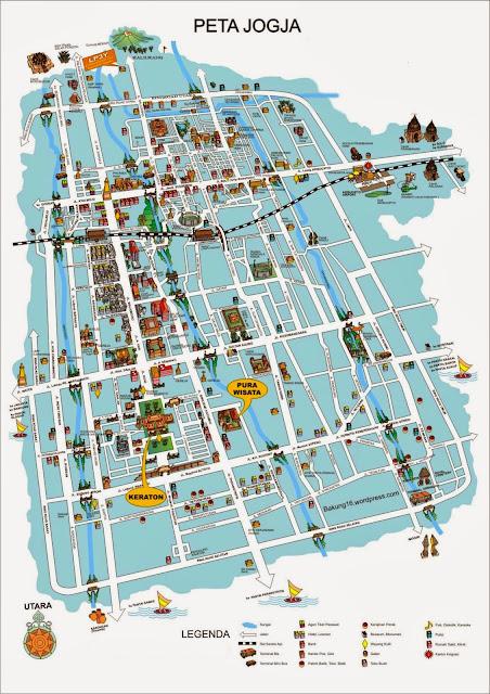 peta yogyakarta tourism map