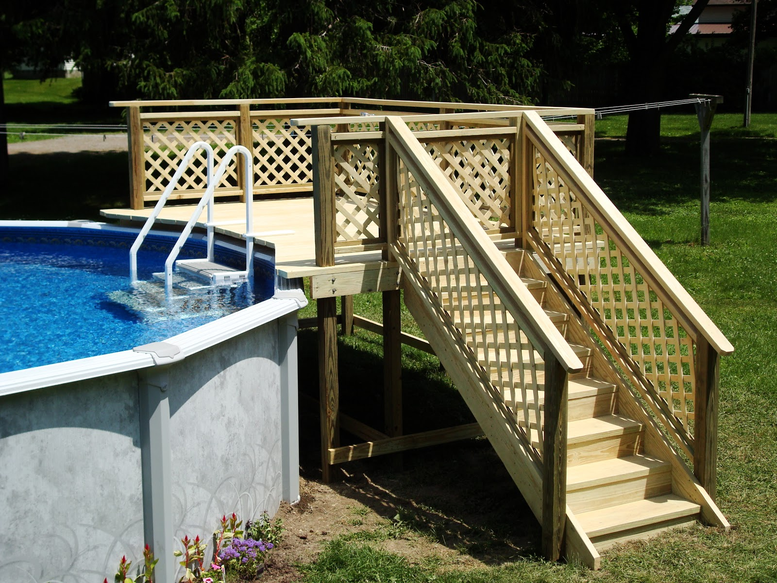 Curry custom decks for Swimming pool deck