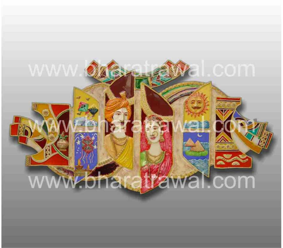 Mural art by muralguru bharat rawal 3d ceramic mural art for Ceramic mural art