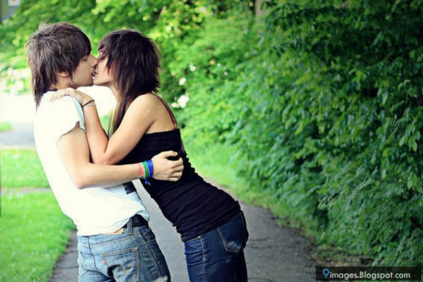 Hd Wallpaper Emo Love couple : Kissing, emo, couple, hug, hold, affection, romantic