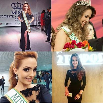 """""""A parte que mais gosto em meu corpo é barriga e aboca"""" frisa a Miss Cruzeiro 2016"""
