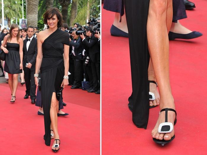 Angelina Jolie Chocolate Brown Celebrity Prom Dress Cannes