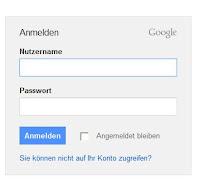 Anmeldemaske Google-Mail