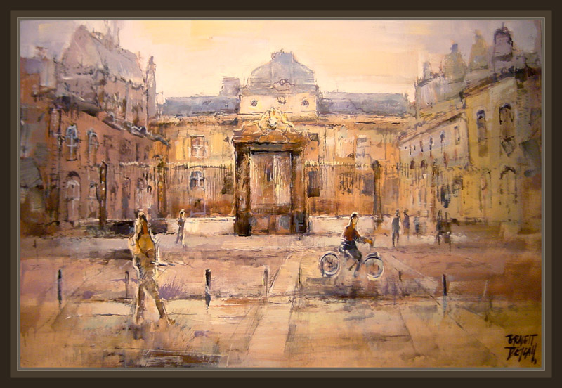 PARIS-CONCIERGERIE-MONUMENTS-PAINTINGS-PINTURA-ART-ARTE-ERNEST DESCALS