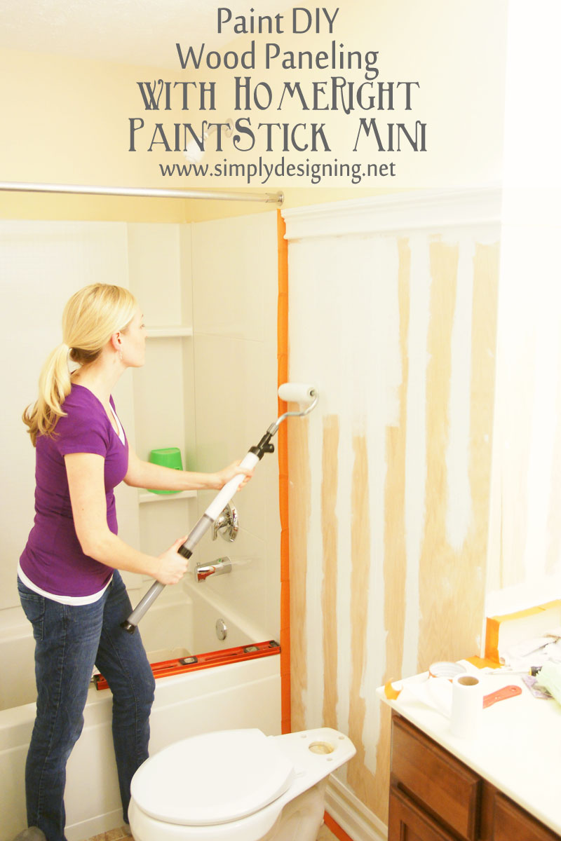 How to Install and Paint DIY Wood Paneling | a tutorial how to build and install your own wood paneling | #DIY #bathroom #paneling