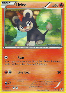 Litleo Phantom Forces Pokemon Card
