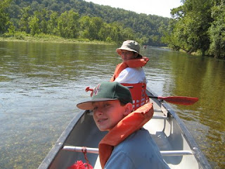 Canoeing on the White River