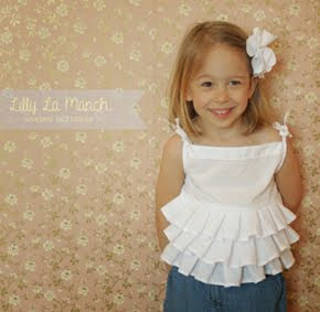 Ruffle blouse pdf pattern for girls
