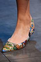 Обувки на нисък ток с принт на Dolce & Gabbana