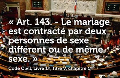 Le projet de loi sur le mariage gay enfin dvoil! Mon