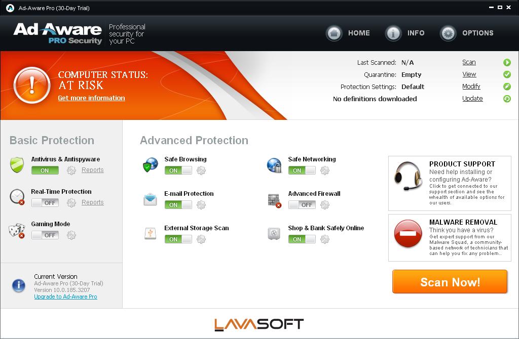 Lavasoft ad aware anniversary edition pro 9.0.2