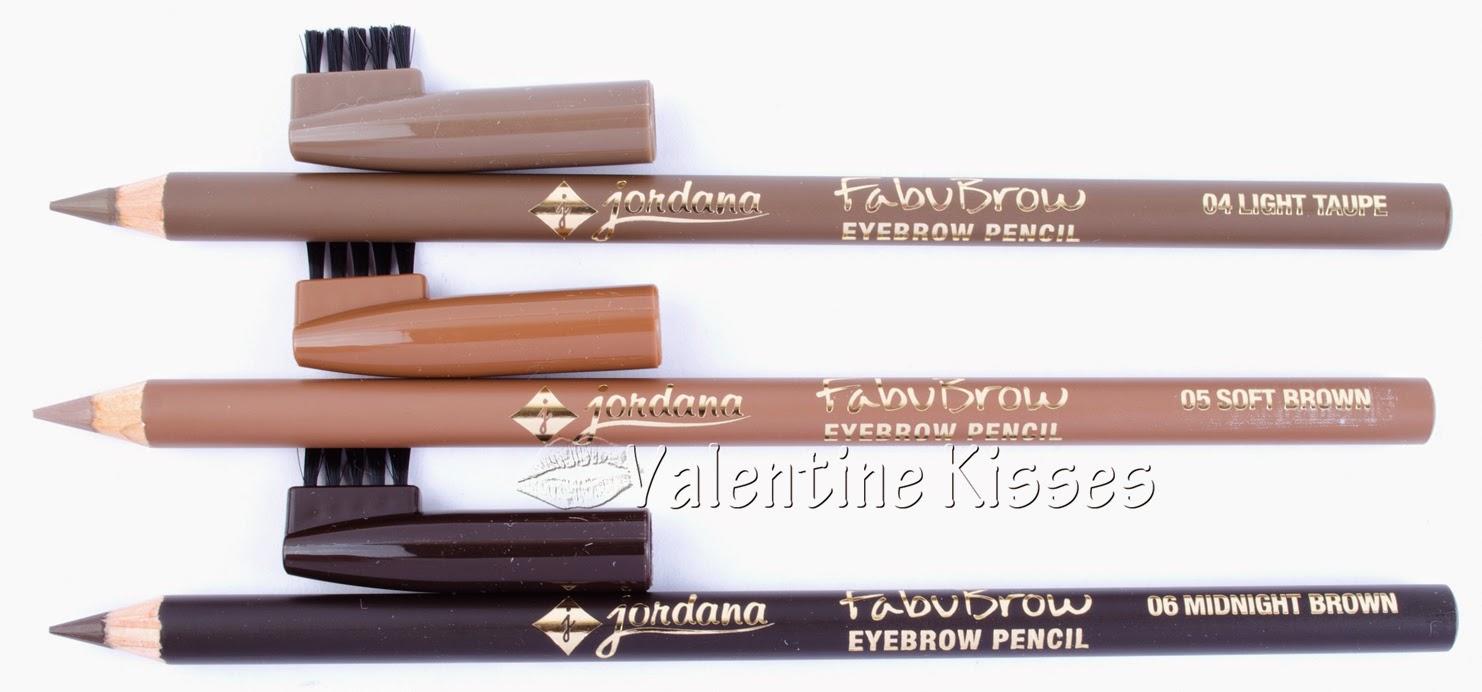 Valentine Kisses Jordana Fabubrow Eyebrow Pencil 3 New Shades