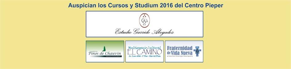 Cursos y Studium 2016 del Centro Pieper