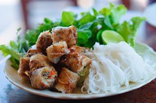 Lao recipe - spring rolls - cheun yaw