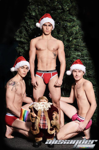 sexy greeks dressed as Santas