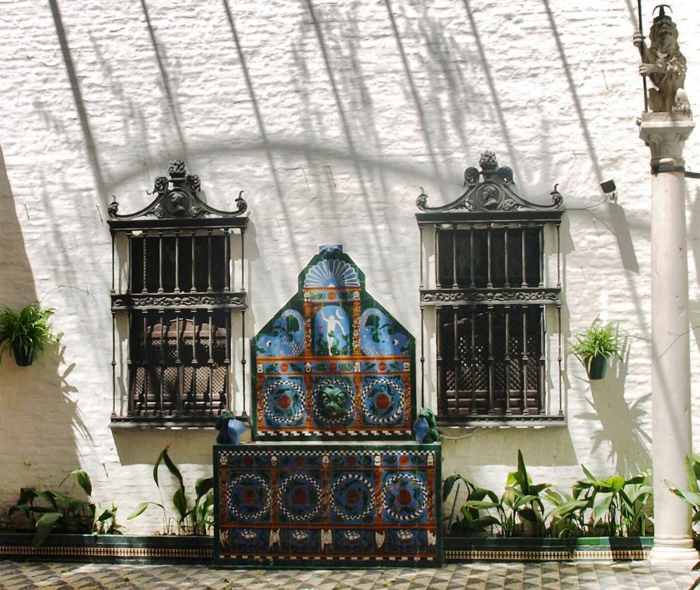 Sevilla daily photo la fuente de la casa de los guardiola - La casa de los uniformes sevilla ...