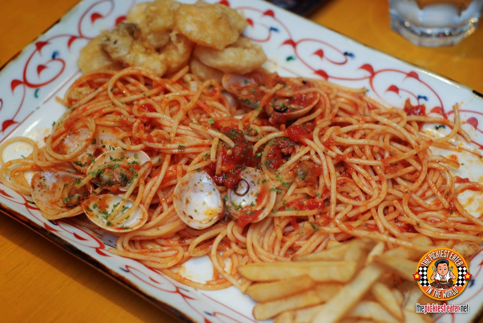 Seafood Fritto & Tomato Sauce Spaghetti