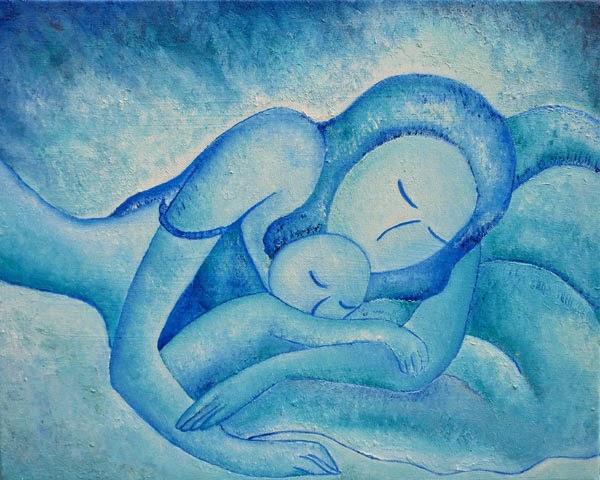 Blue Co-Sleeping by Gioia Albano 2011