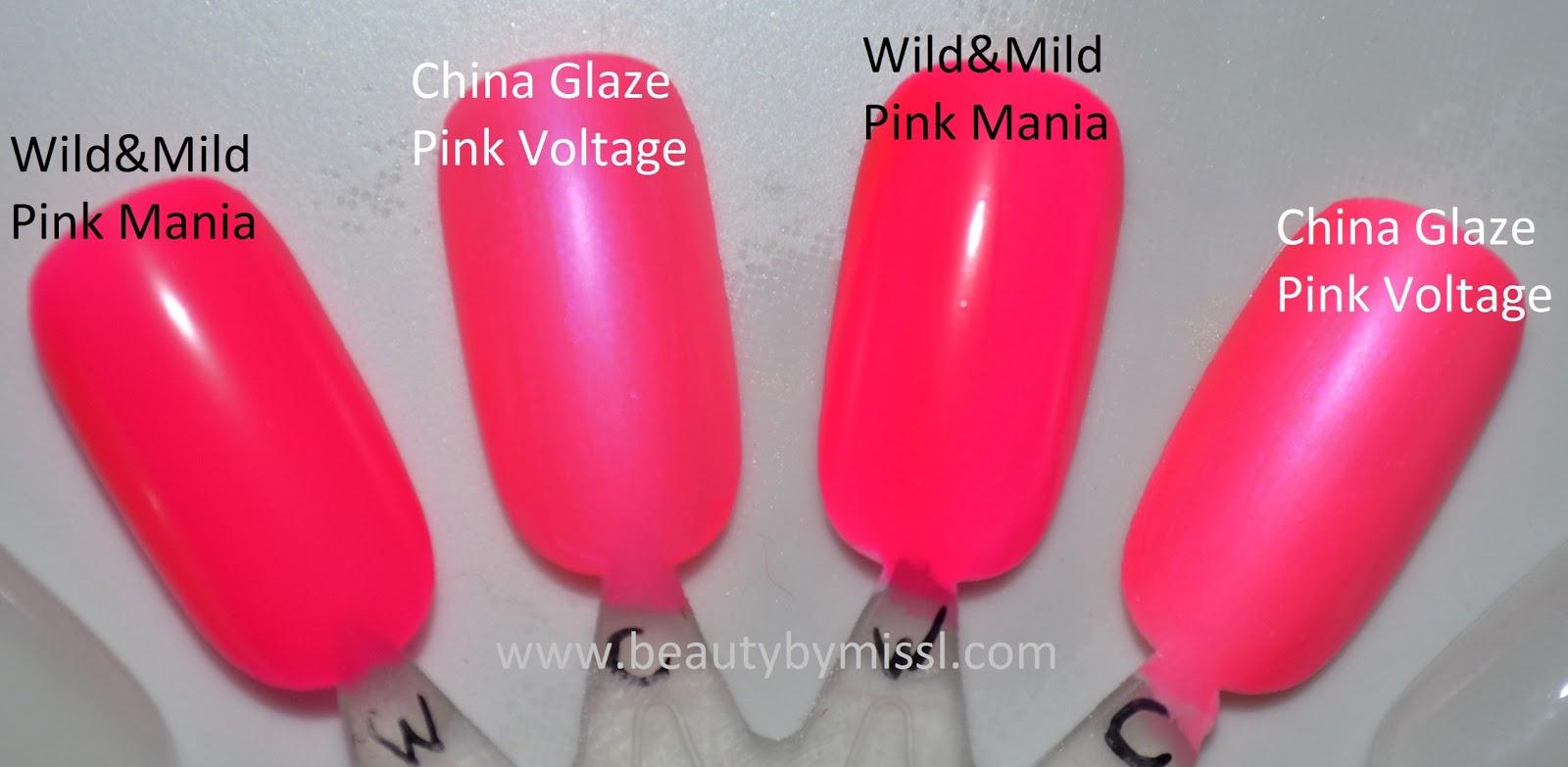 china glaze wild&mild comparison