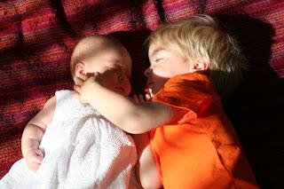 Anton cuddling Neve