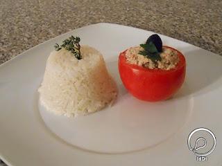tomate recheado e arroz - Ideia do Dia 1