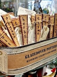 Etiquetas verticais de madeira para vasos