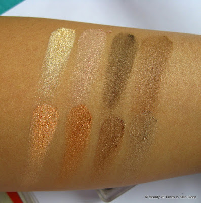 Essence Sun Club Eyeshadow Palette 02 Long Beach swatches