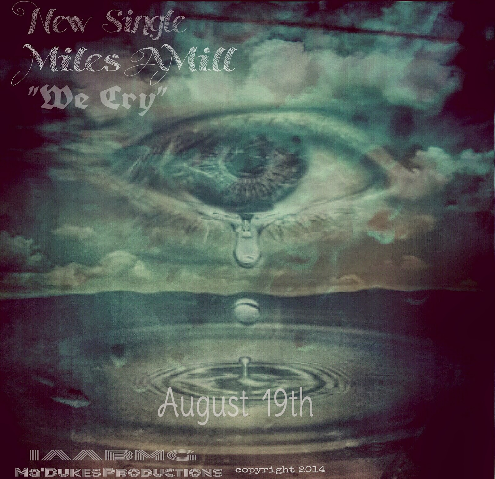 Miles AMill Cry cd cover promotional flyer image