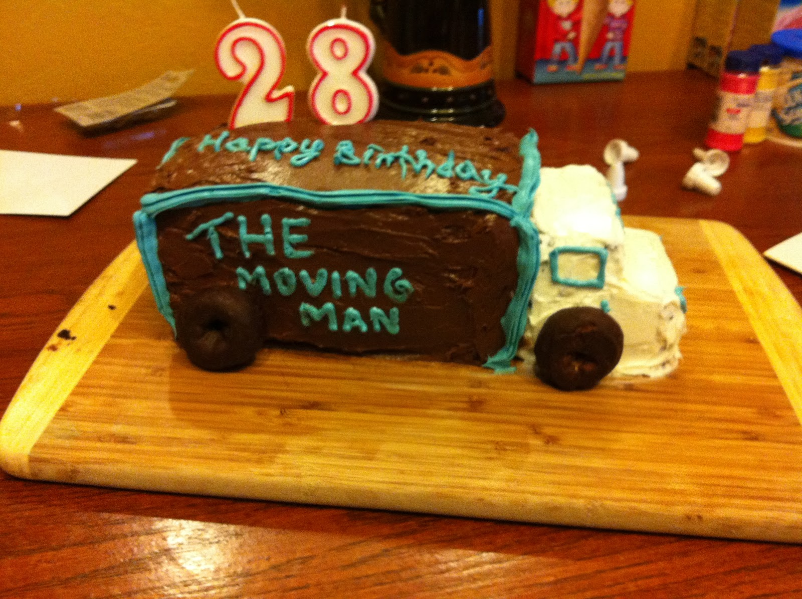 Moving Truck Birthday Cake