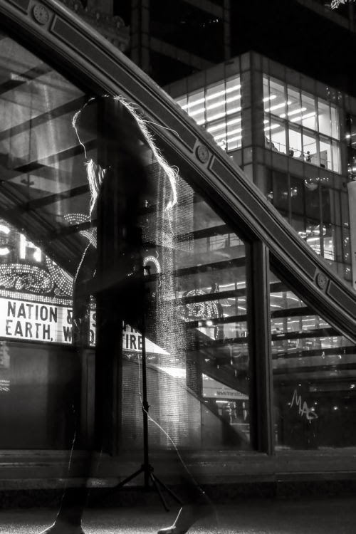 Satoki Nagata black and white photography art portraits city lights night Chicago