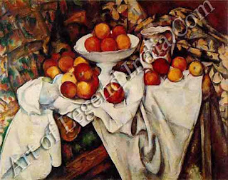 "The Great Artist Paul Cezanne ""Apples and Oranges"" 1895- 1900 28 ¾"" X 36 ¼"" Musee d'Orsay, Paris"
