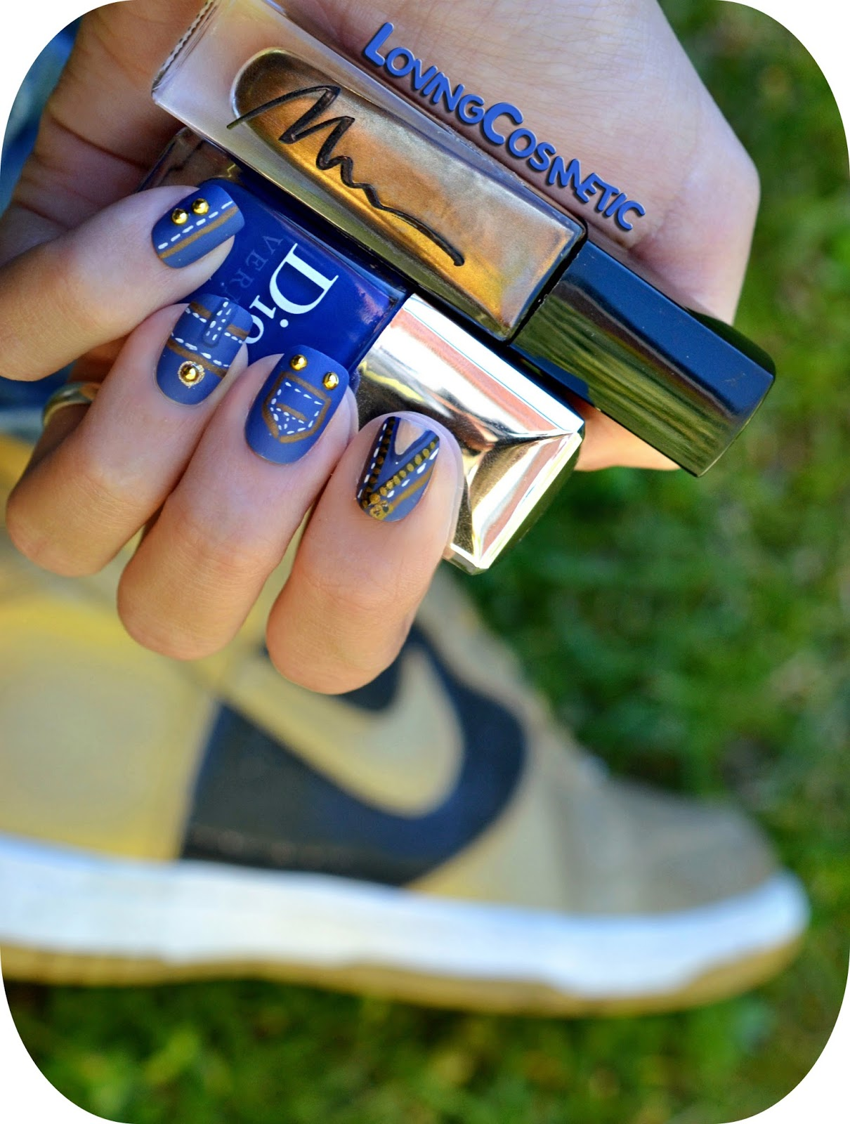 Jeans Nails Nail Art Vaqueros Dior Marionnaud BornprettyStore