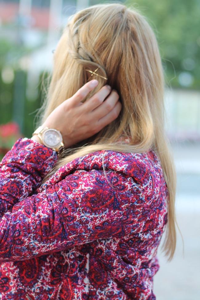 lavender star - kleid weiß vero moda - bunte bomberjacke oasap - sandalen braun h und m- louis vuitton neverfull monogram canvas mm - ray ban erika brille - sommer outfit - sommer look