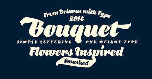 bouquet-font