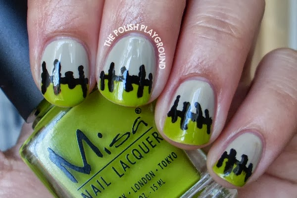 Frankenstein Stitched Up French Manicure