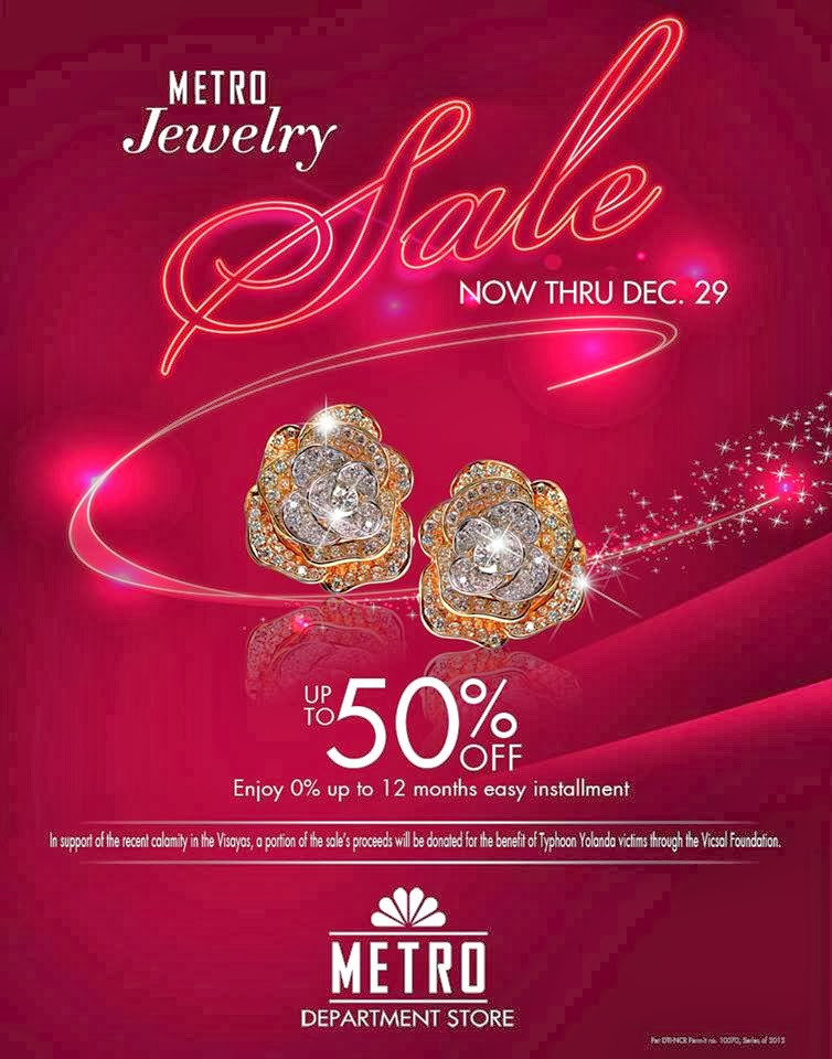 Manila shopper metro stores jewelry sale dec 2013 for Jewelry sale online shopping