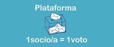 PLATAFORMA DEL 1 SOCIO/A = 1 VOTO