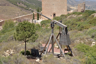 picture of trebuchet at Lorca castle