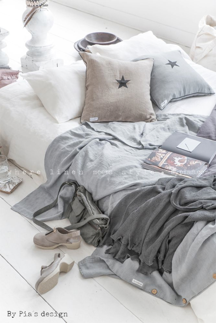 BY PIA´S Design linen for your home  bedding linen - photo Paulina Arcklin