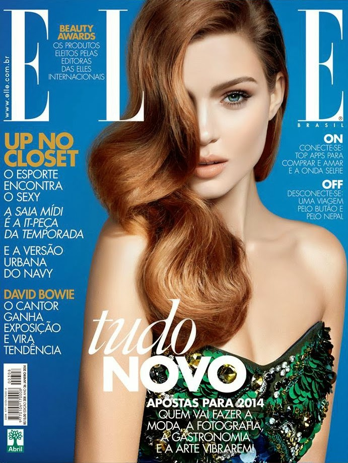 Magazine Cover : Josephine Skriver Magazine Photoshoot Pics on Elle Magazine Brazil January 2014 Issue